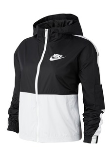 Nike Swoosh Colorblock Zip Front Hooded Jacket
