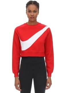 Nike Swoosh Crew Cotton Blend Sweatshirt