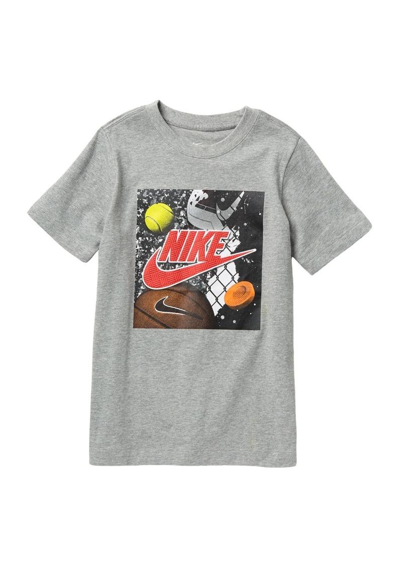 Nike Swoosh Playground Futura T-Shirt (Big Boys)