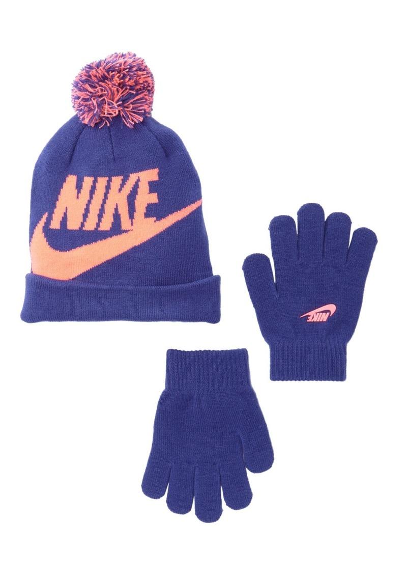 f4b28c3a7 Swoosh Pom Beanie & Gloves Set (Little Girls)