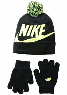 Nike Swoosh Pom Beanie Gloves Set (Little Kids/Big Kids)