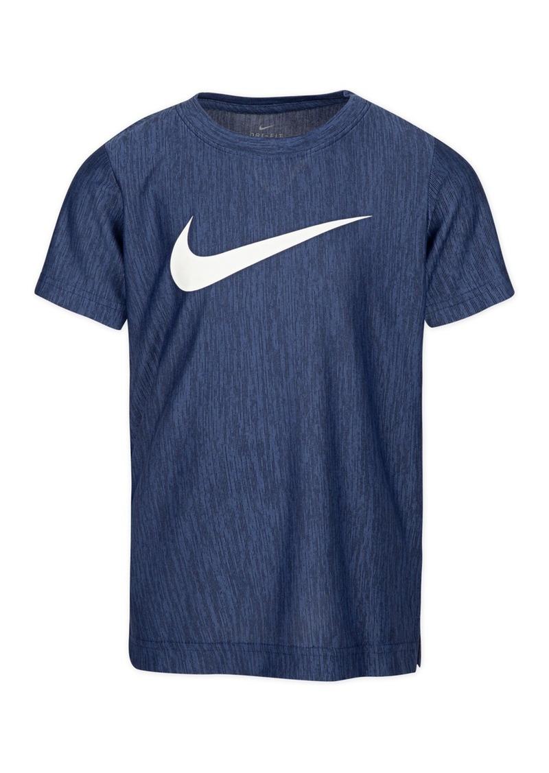 Nike Swoosh Print Short Sleeve T-Shirt (Little Boys)