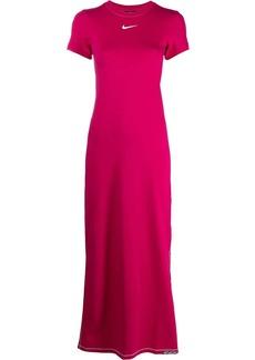 Nike Swoosh-print short-sleeved maxi dress