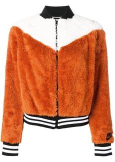 Nike textured colour block bomber jacket