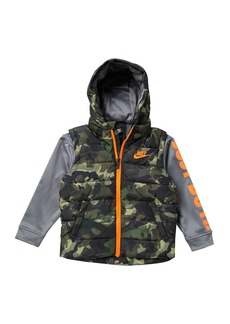 Nike Therma Padded Mock Vest Jacket (Little Boys)