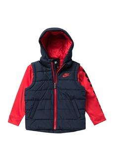 Nike Therma Padded Mock Vest Jacket (Toddler Boys)
