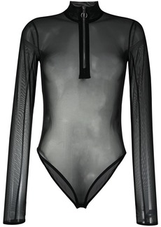 Nike transparent zip-up body