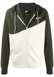 Nike two-tone swoosh logo hoodie