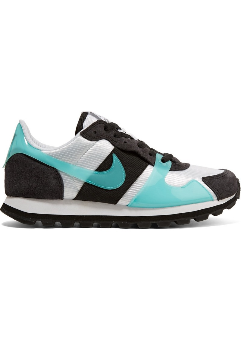 Nike V-love O.x. Suede, Pvc And Elastic-trimmed Mesh Sneakers