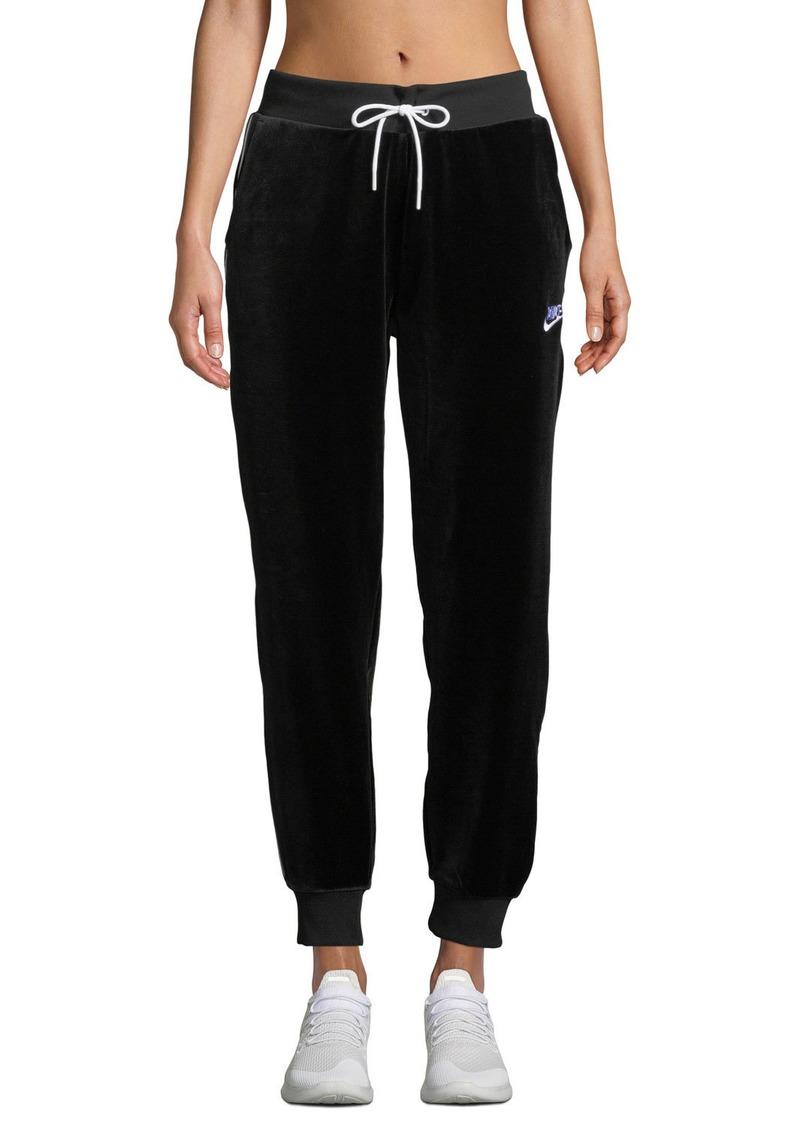 5341711af1005 Nike Velour Drawstring Track Pants Black   Casual Pants