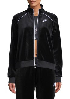 Nike Velour Track Jacket  Black