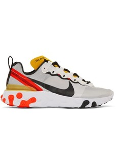Nike White & Black React Element 55 Sneakers