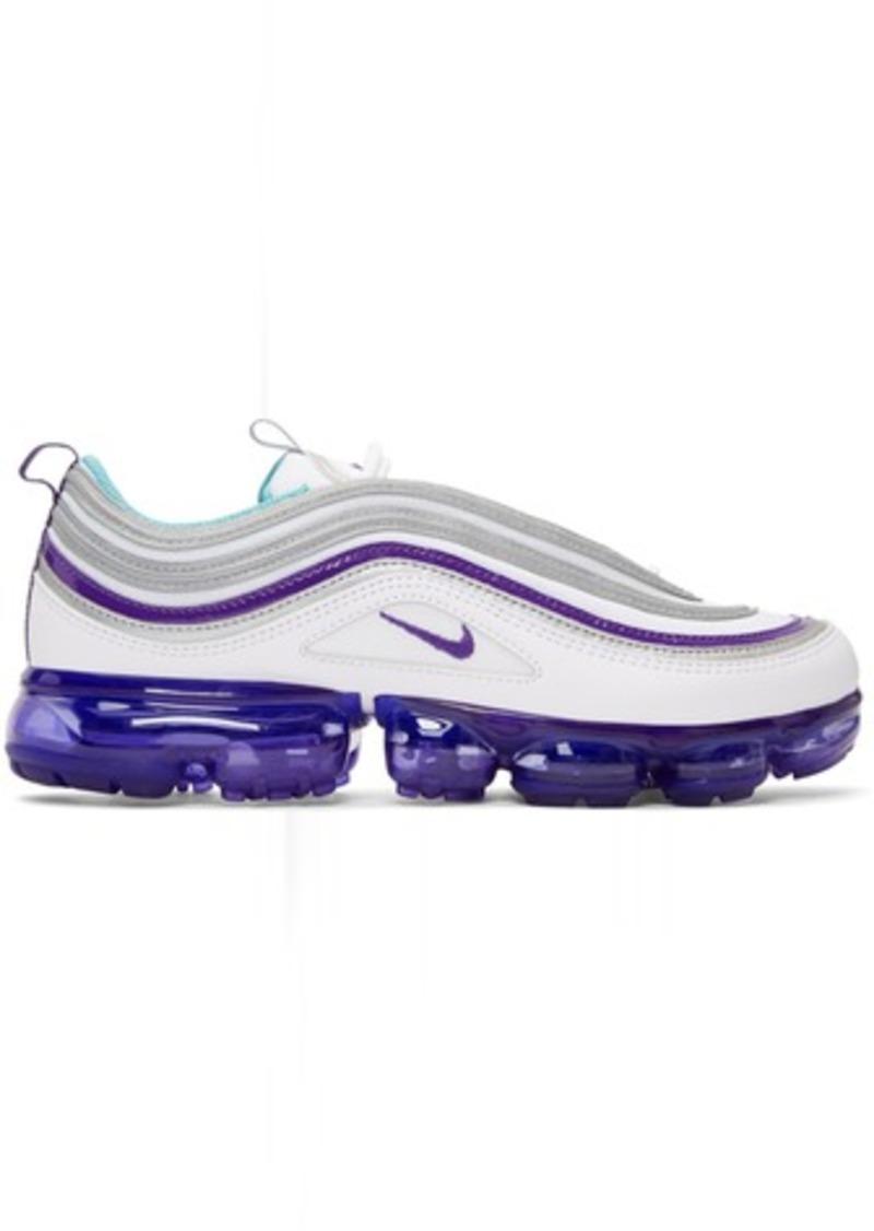 433a49d6305 Nike White   Purple Air Vapormax 97 Sneakers