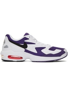 Nike White & Purple Max2 Light Sneakers