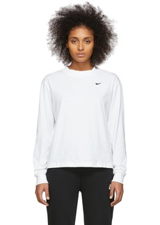 Nike White NSW Essentials Long Sleeve T-Shirt