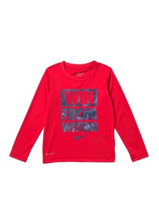 Nike Win From Within Long Sleeve T-Shirt (Little Boys)