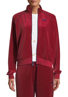 Nike Zip-Front Velour Track Jacket