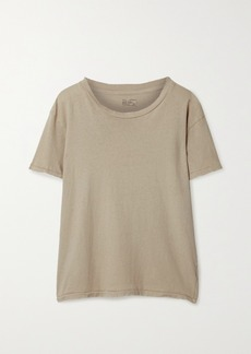 Nili Lotan Brady Distressed Cotton-jersey T-shirt