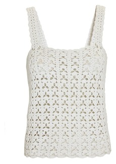 Nili Lotan Darcey Crochet Knit Tank Top