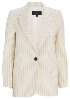 Nili Lotan Don Pinstripe Cotton Blazer