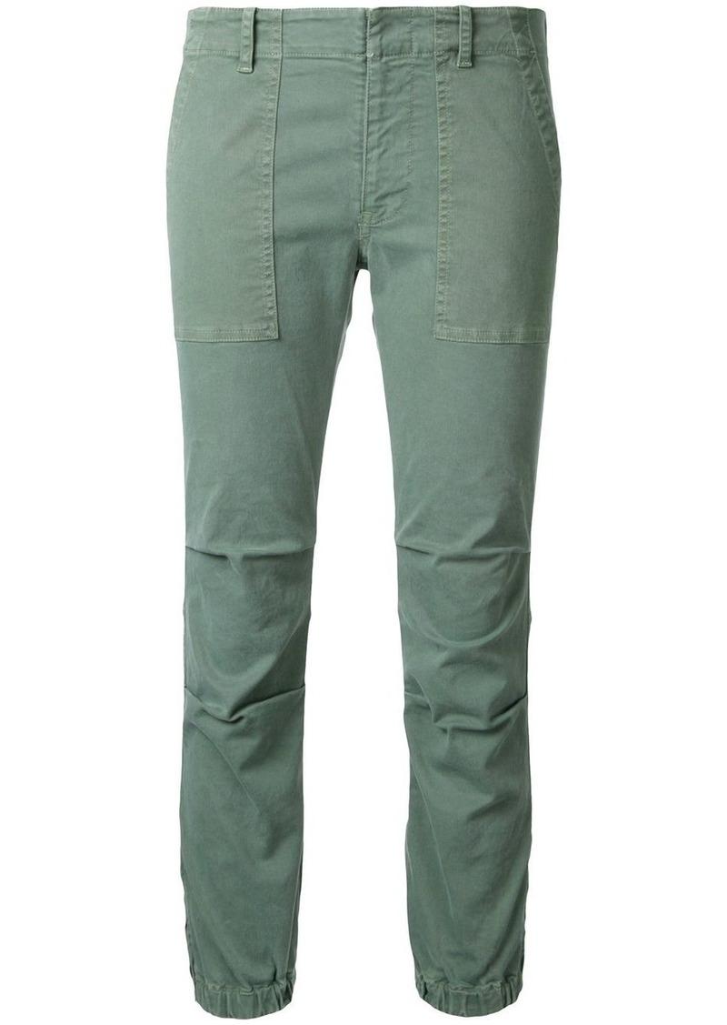 Nili Lotan elasticated hem cropped trousers