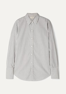 Nili Lotan Helen Striped Cotton-poplin Shirt