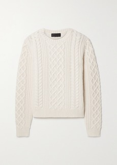 Nili Lotan Jodelle Cable-knit Cashmere Sweater