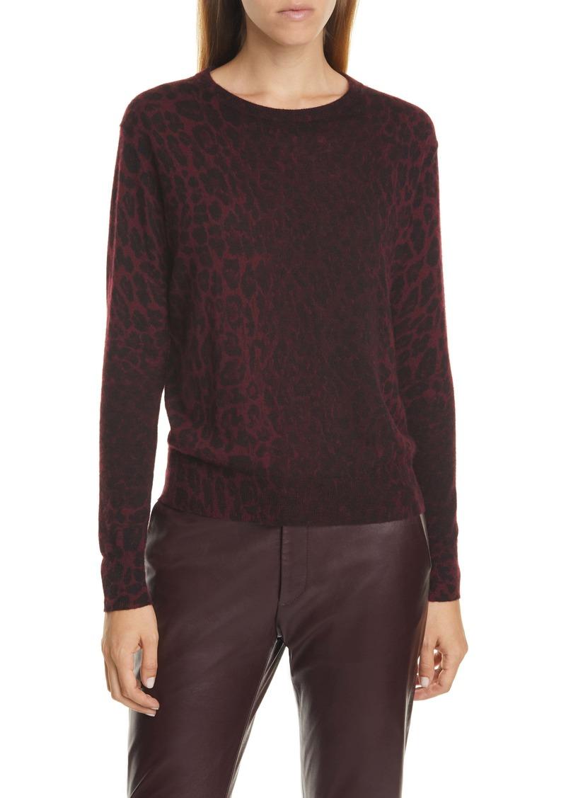 Nili Lotan Abbey Leopard Jacquard Cashmere Sweater