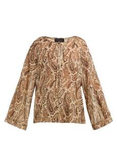 Nili Lotan Acadia paisley-print silk blouse