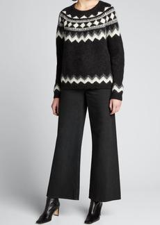 Nili Lotan Adene Fair Isle Crew Sweater