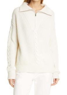 Nili Lotan Angela Cashmere Half Zip Sweater