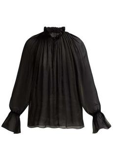 Nili Lotan Arizona silk-chiffon blouse