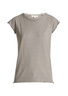 Nili Lotan Baseball short-sleeved cotton T-shirt