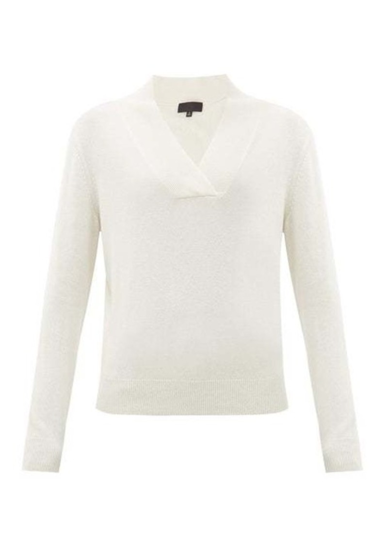Nili Lotan Beacon shawl-collar cashmere sweater