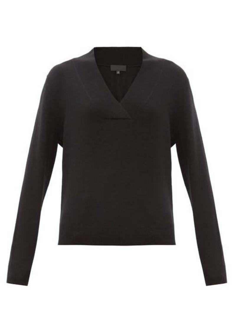 Nili Lotan Beacon surplice V-neck cashmere sweater