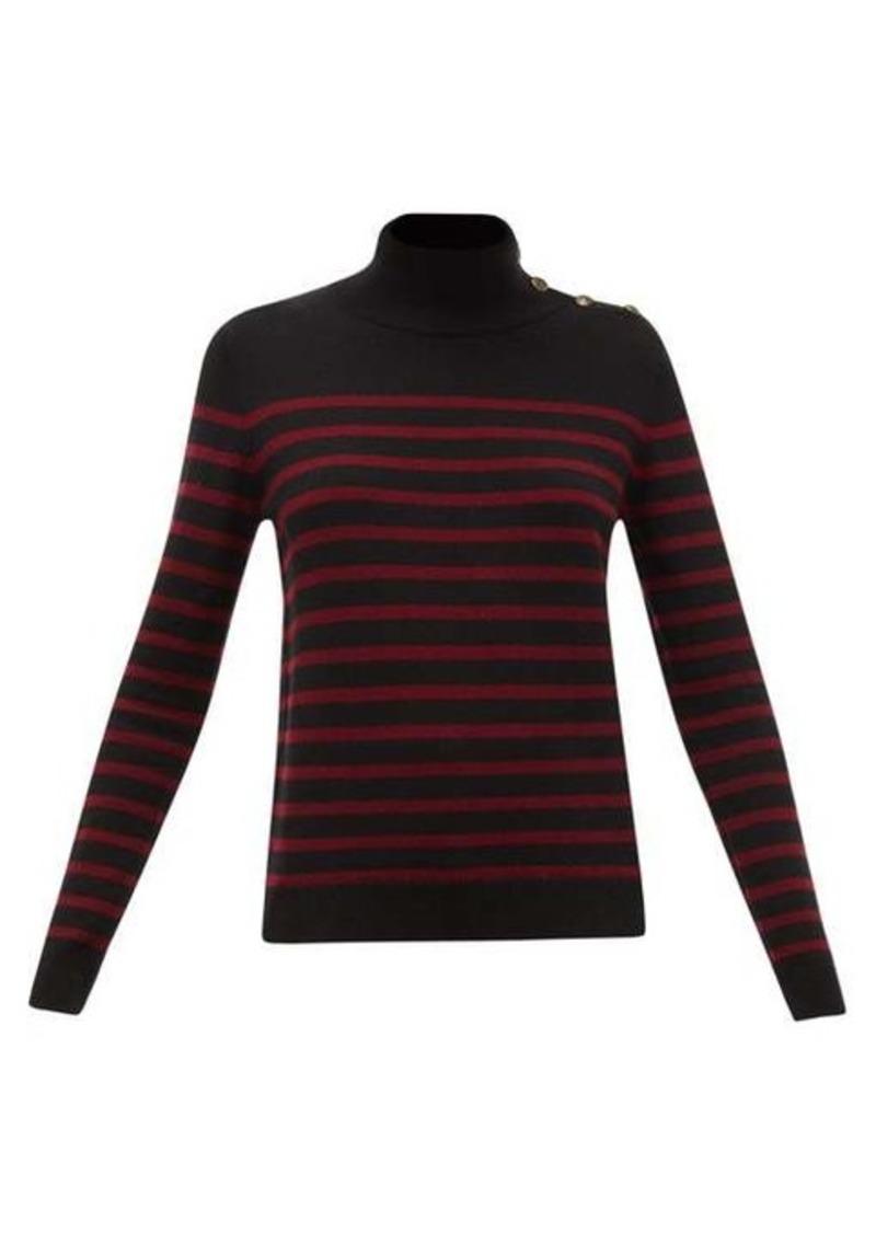 Nili Lotan Beale high-neck striped cashmere sweater