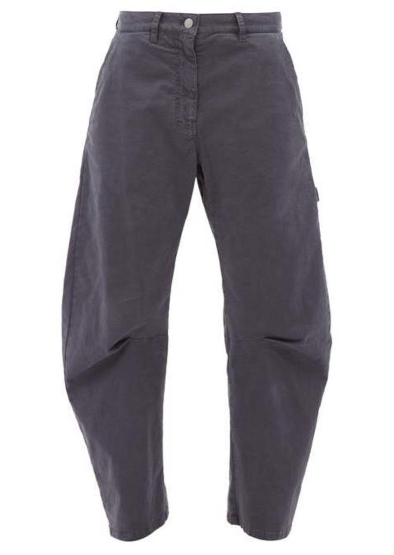 Nili Lotan Carpenter pleated cropped-leg jeans