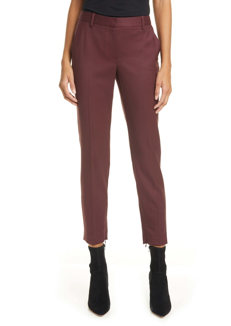 Nili Lotan Leo Slim Stretch Wool Pants