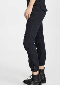 Nili Lotan Cropped French Military Pants with Tape