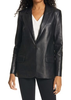 Nili Lotan Don Lambskin Leather Jacket