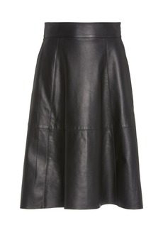 NILI LOTAN Elaine Leather Skirt
