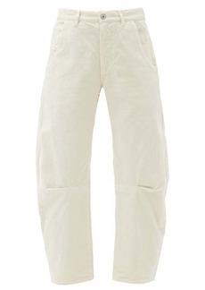 Nili Lotan Emerson cotton-blend tapered-leg cropped trousers