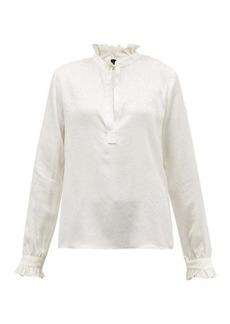 Nili Lotan Esther jacquard silk blouse