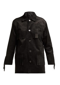 Nili Lotan Fringed suede jacket