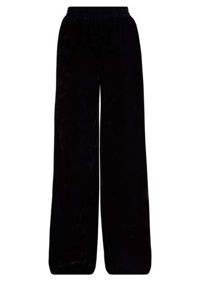 Nili Lotan Harlow high-rise wide-leg velvet trousers