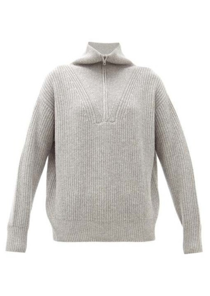 Nili Lotan Hester zipped high-neck cashmere sweater