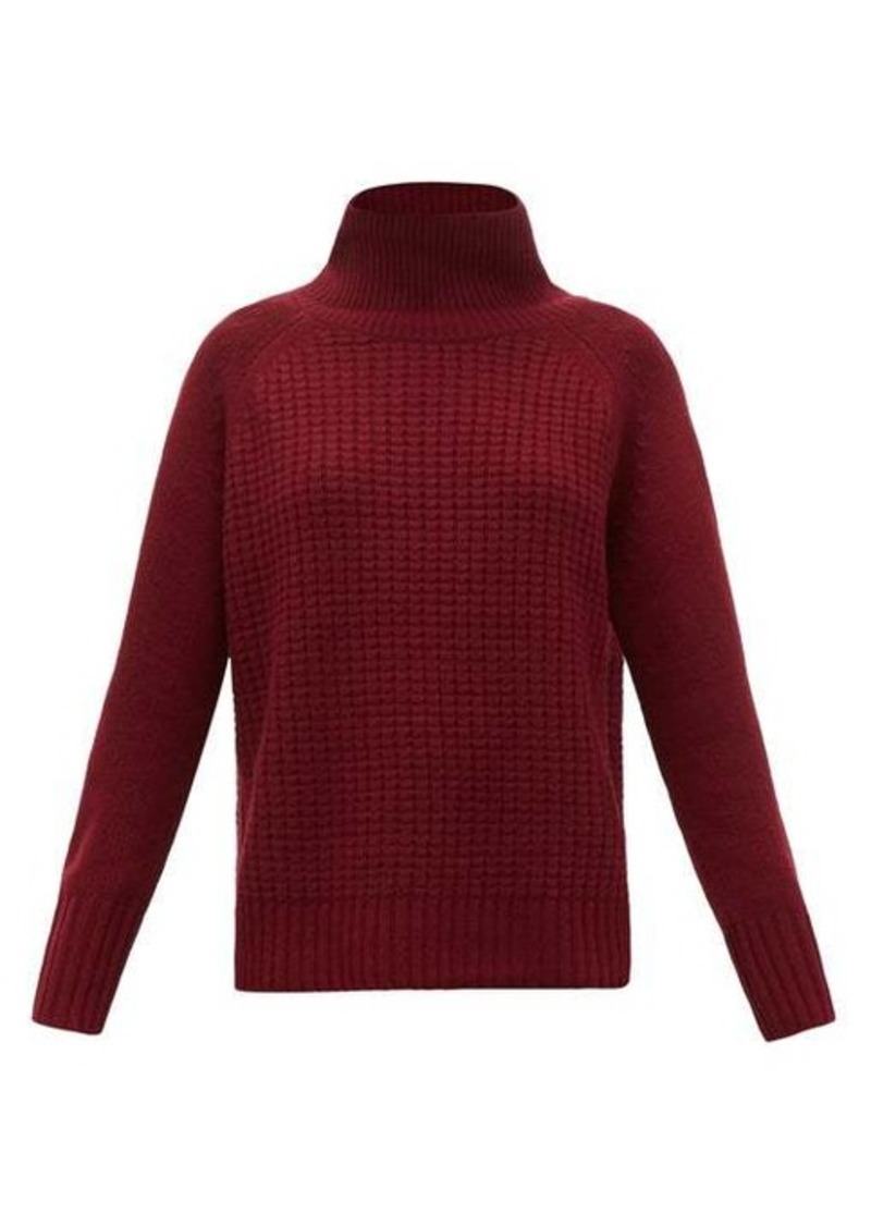 Nili Lotan Houston roll-neck waffle-knit cashmere sweater
