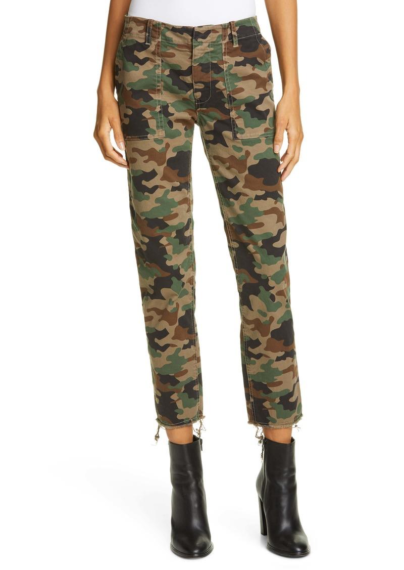 Nili Lotan Jenna Camo Print Crop Pants