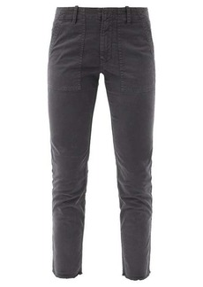 Nili Lotan Jenna cropped cotton-blend slim-leg trousers