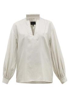 Nili Lotan Joey striped silk blouse